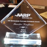 AARP/Aetna Distinguished Customer Experience Award 2010 - Jennifer Kauffman