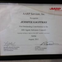 AARP/Aetna Agent Advisory Council - Jennifer Kauffman