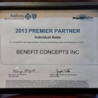 Anthem Blue Cross & Blue Shield Premier Partner 2009, 2010, 2012